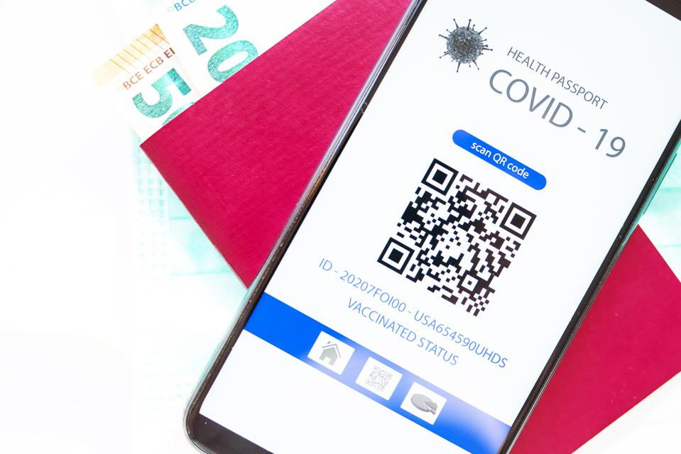 QR code for verification of immunization after vaccination with covid vaccine - 19