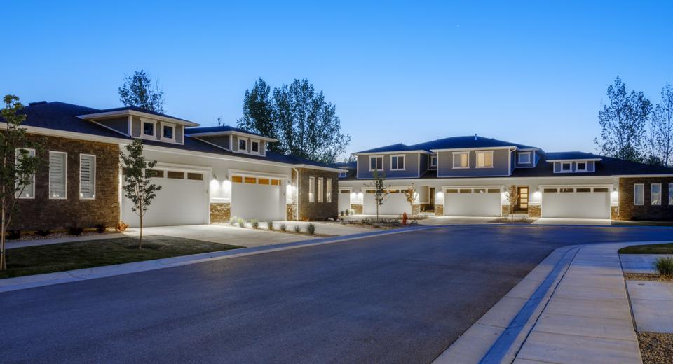 Suburb Houses at Dusk