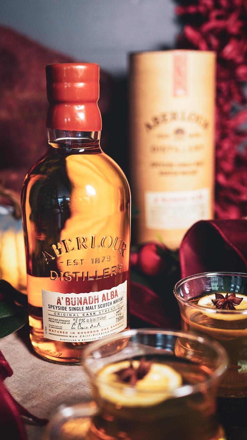 Speyside Toddy avec bouteille de whisky Aberlour