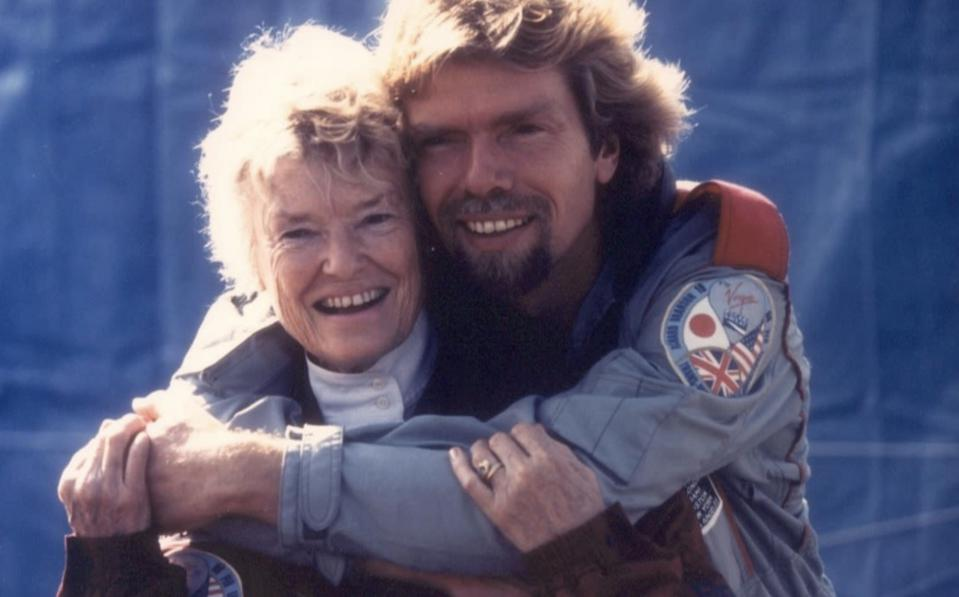 Sir Richard Branson and his mother Eve