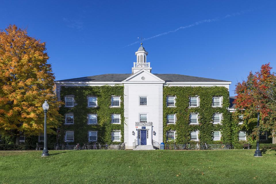 Battell Hall, Middlebury College campus...