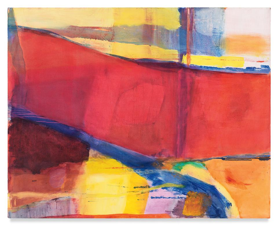 Emily Mason, 'Bound to Opposing Winds,' 1978. Oil on canvas 40 x 50 inches 101.6 x 127 cm.