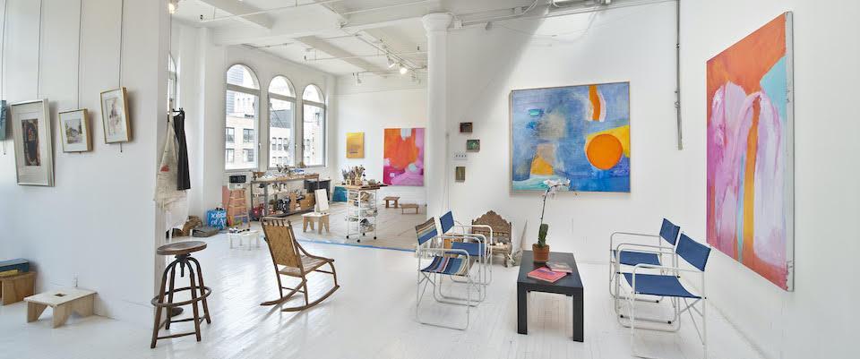 Inside Emily Mason's 20th Street studio in Chelsea.