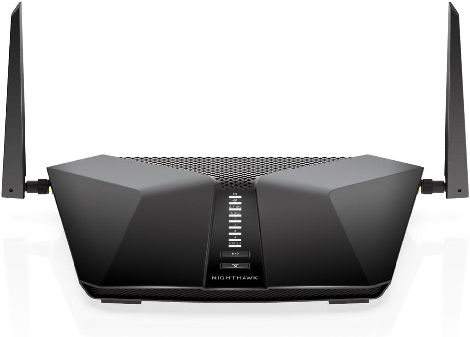 Front view of NETGEAR LAX20 router