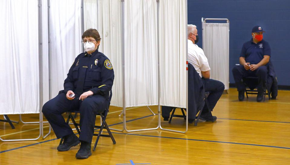 Lawrence First Responders Receive Covid-19 Vaccine