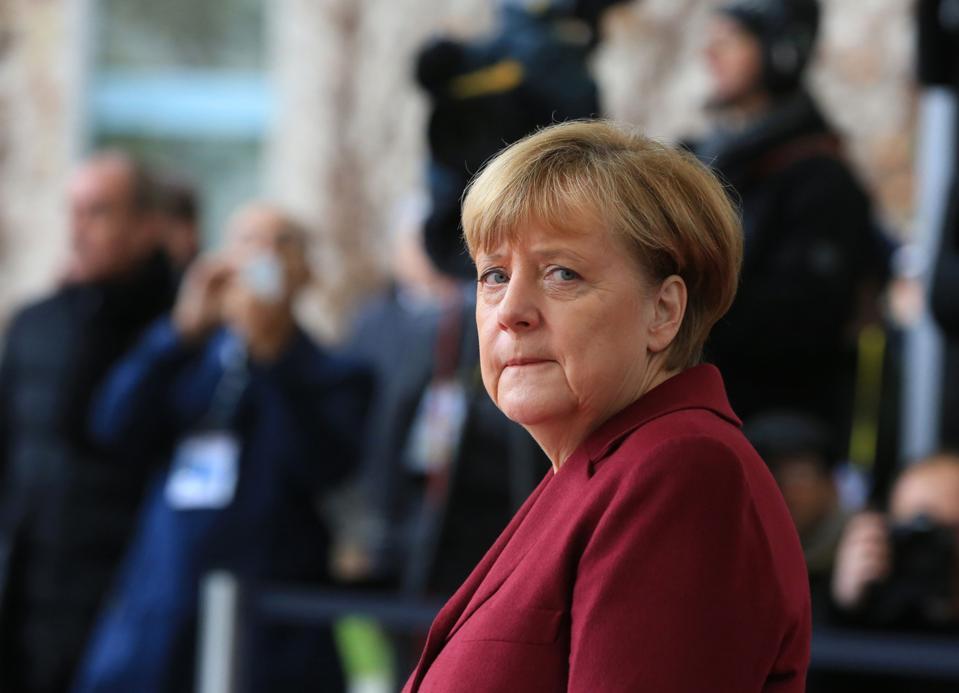 U.S. President Barack Obama And European Leaders Meet Germany's Chancellor Angela Merkel