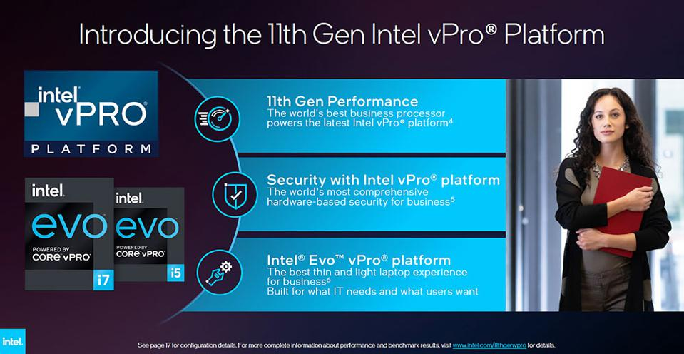 Intel's 11th Gen vPro And Evo vPro Mobile Commercial Platforms