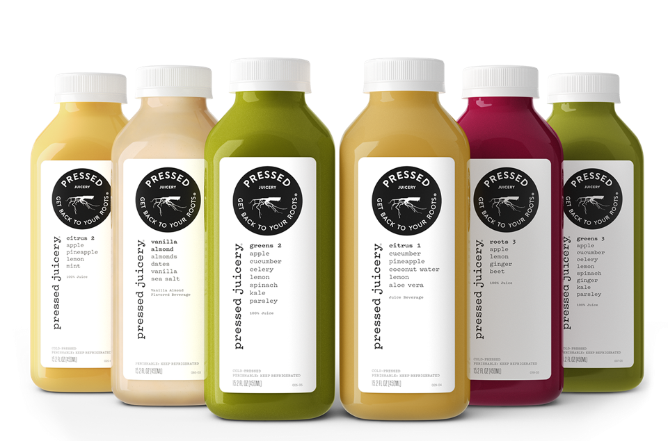 Pressed Juice bottles