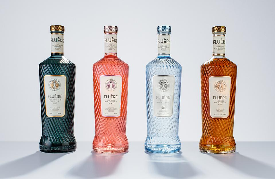 Bottles of Fluère Spirits