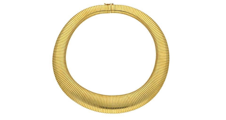 A gorgeous gold necklace from Cartier