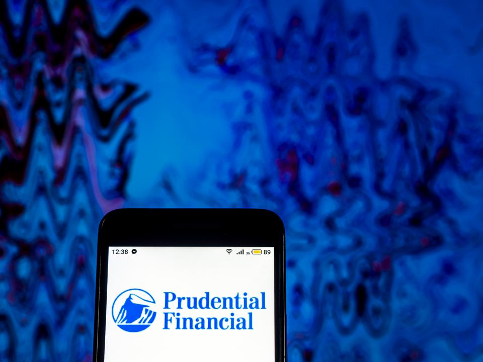 Prudential Financial Insurance company  logo seen displayed
