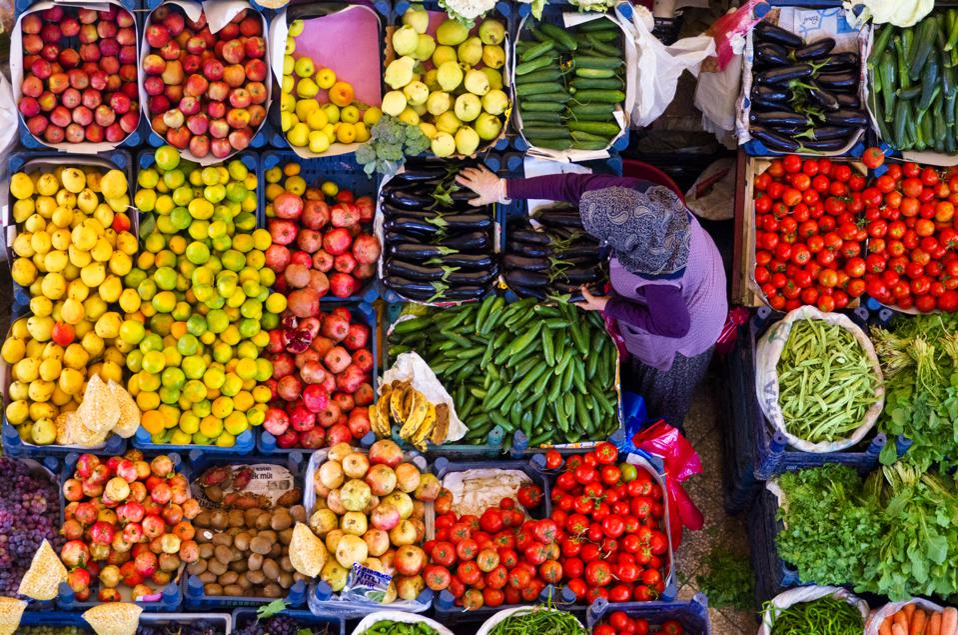 Colourful Melike Hatun Bazaar in Konya