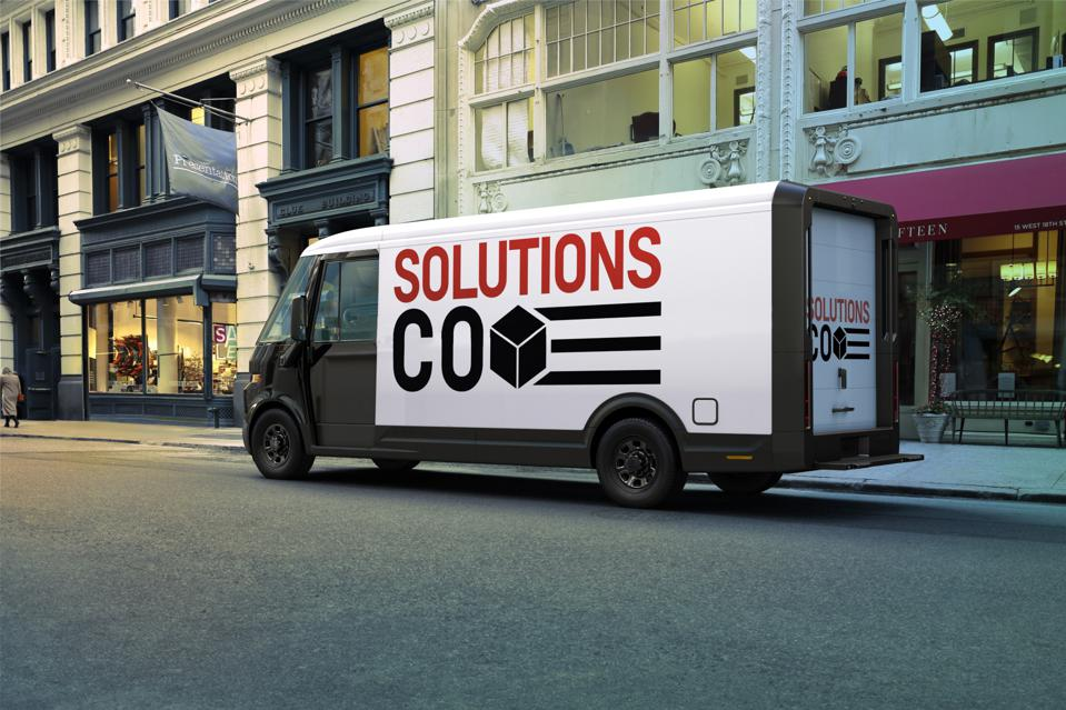 General Motors announced its new BrightDrop commercial electric vehicle business unit including the EV600 cargo van during CES 2021