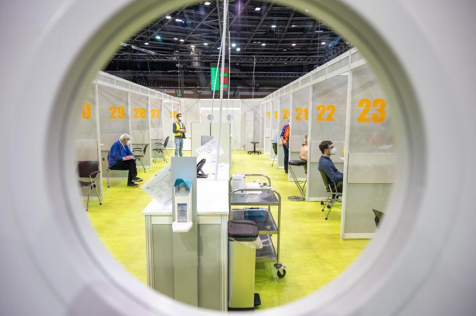 Coronavirus - Berlin Vaccination Center Velodrom