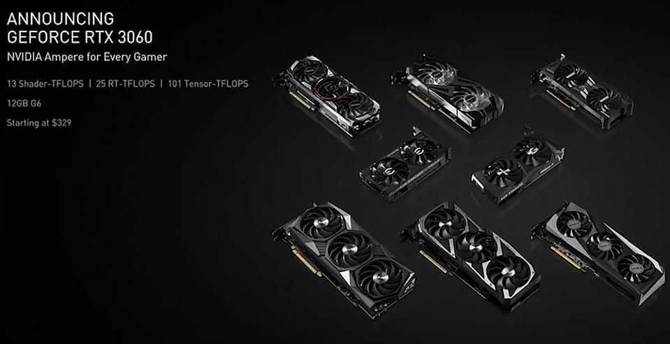 NVIDIA GeForce RTX 3060 Custom OEM Cards