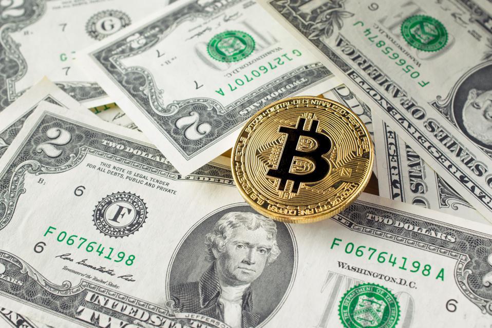 Close-Up Of Bitcoin