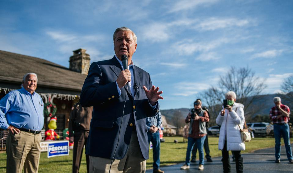 Sen. Lindsey Graham Campaigns With David Perdue Ahead Of GA Runoff Election