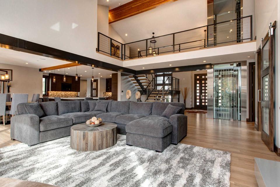 The spacious interiors at 2755 Telemark Drive.