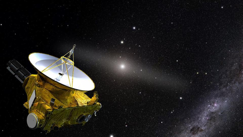 An artist's impression of the New Horizons spacecraft, which is now in the outer reaches of the Solar System, more than 7 billion kilometers (4 billion miles) from Earth.