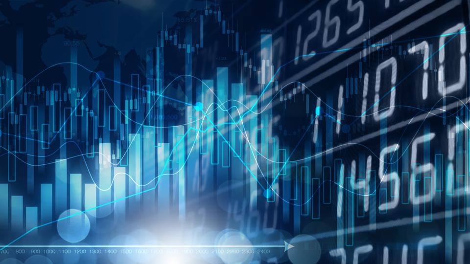 Image with stock market investment trading