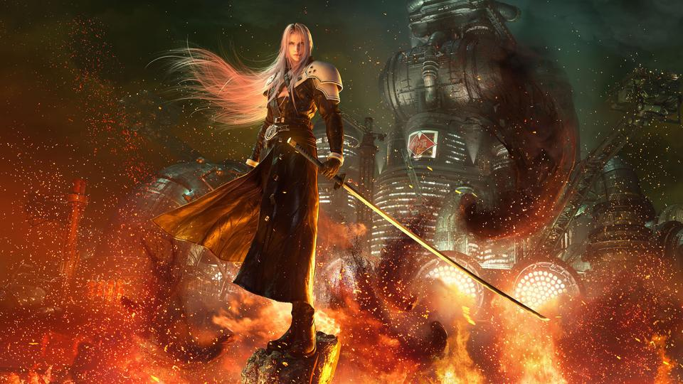 Sephiroth in the Final Fantasy 7 Remake.