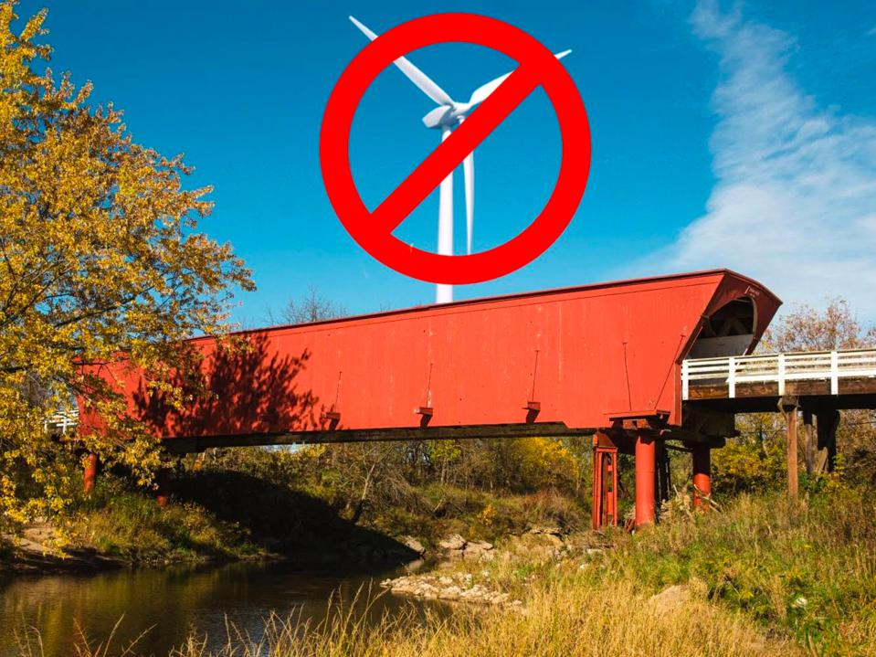 Madison County, Iowa, known for its picturesque bridges, doesn't want more wind projects.