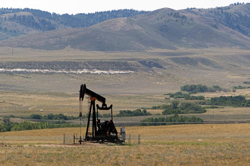 Horsehead pump oil well Wyoming USA