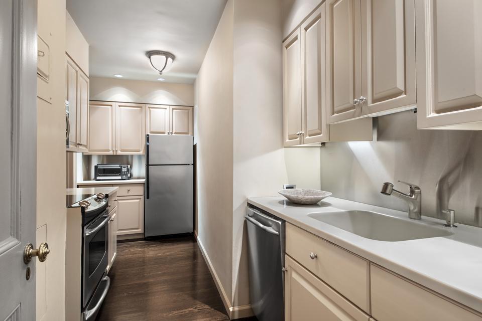 A kitchen in Manhattan.