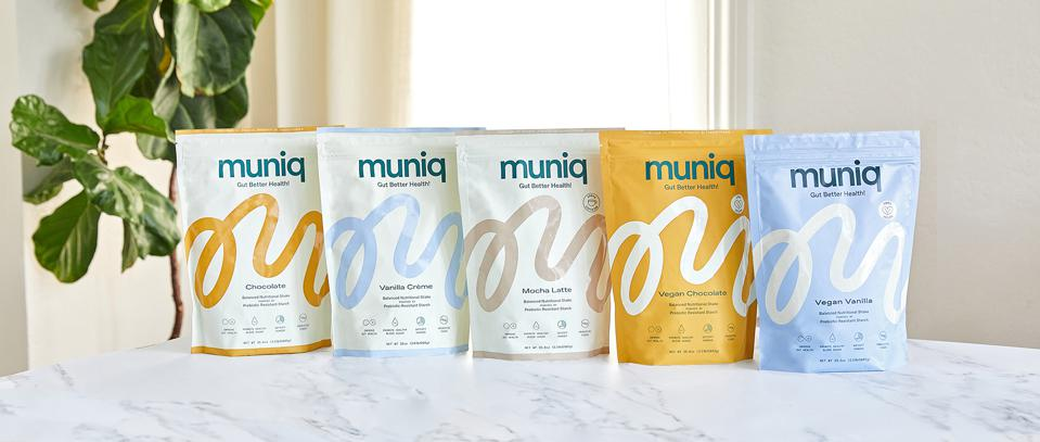 Five flavors of Muniq shakes