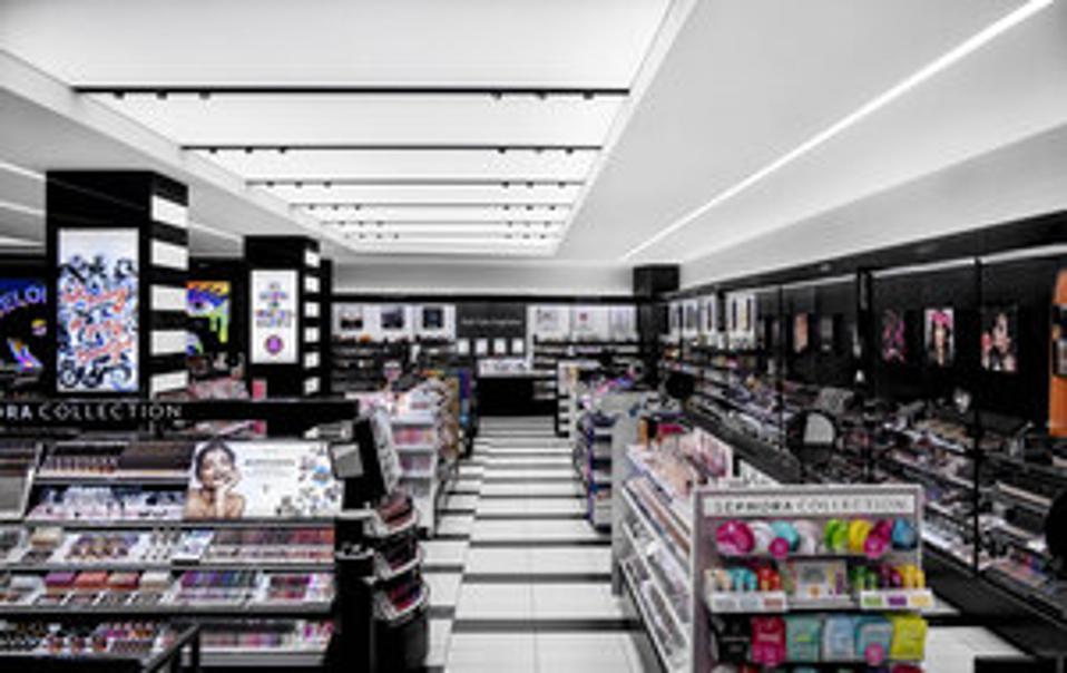Interior Sephora store