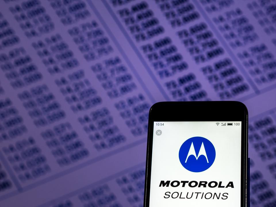 Motorola Solutions Data communication company logo seen