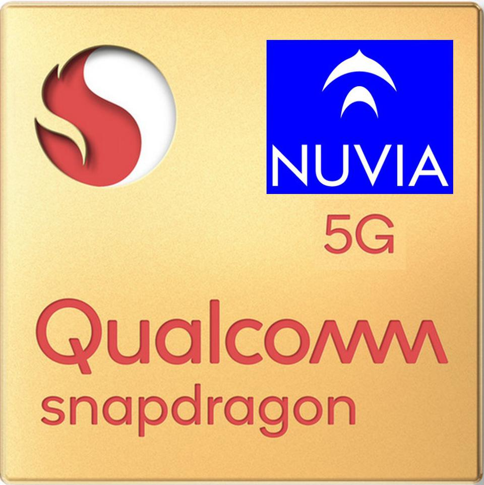 Snapdragon 5G chip with Nuvia logo