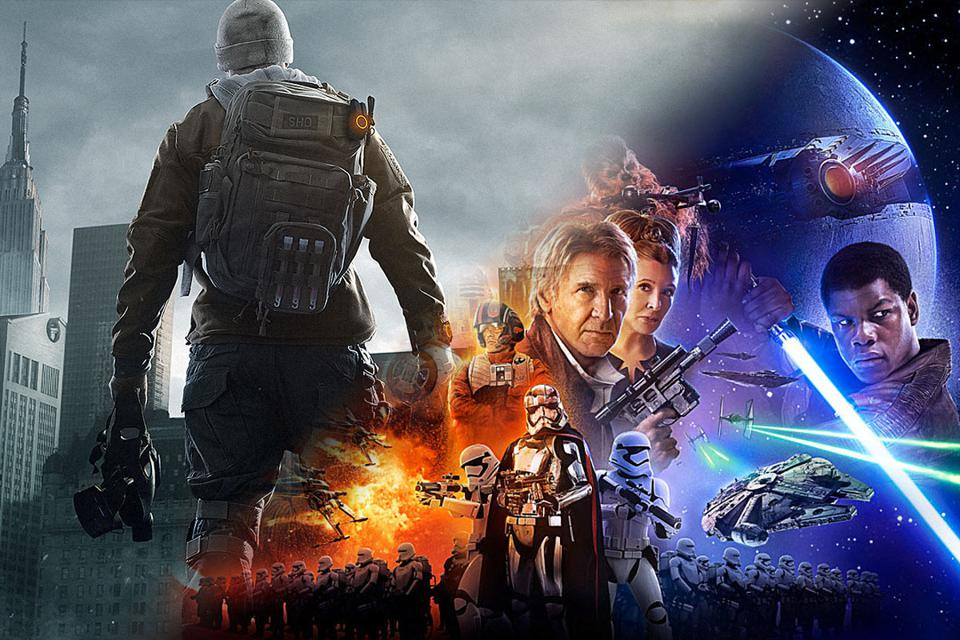 The Division and Star Wars: The Force Awakens side-by-side.