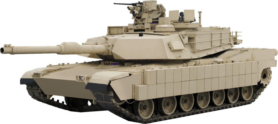 Image of a U.S. Army M1A2 main battle tank with a transparent background.