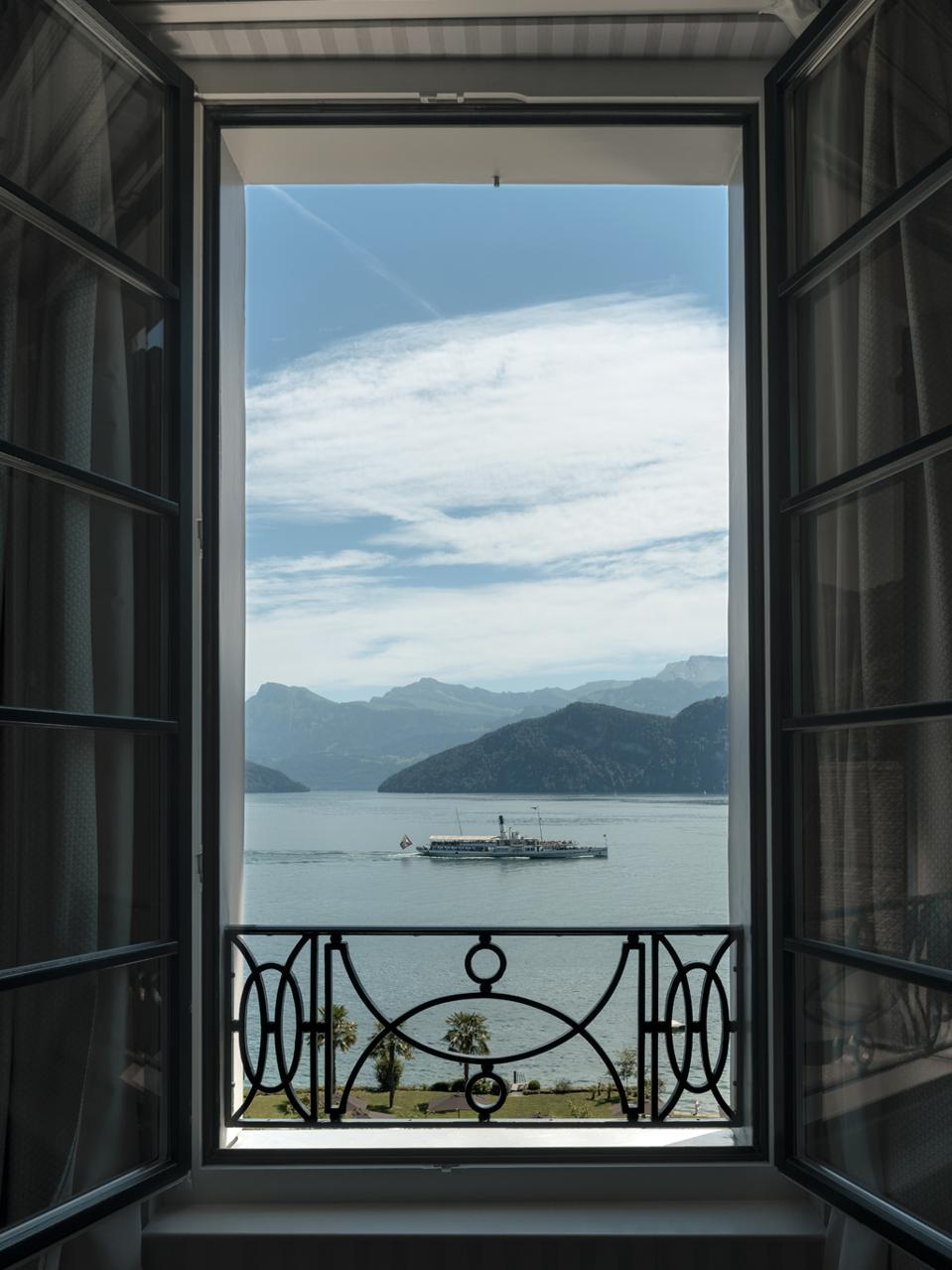Room with a view at Chenot Palace Weggis