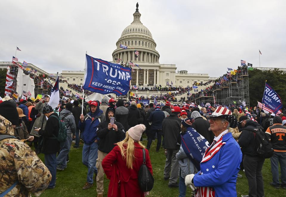 WASHINGTON, DC - JANUARY 6: Protesters take over the Inaugural