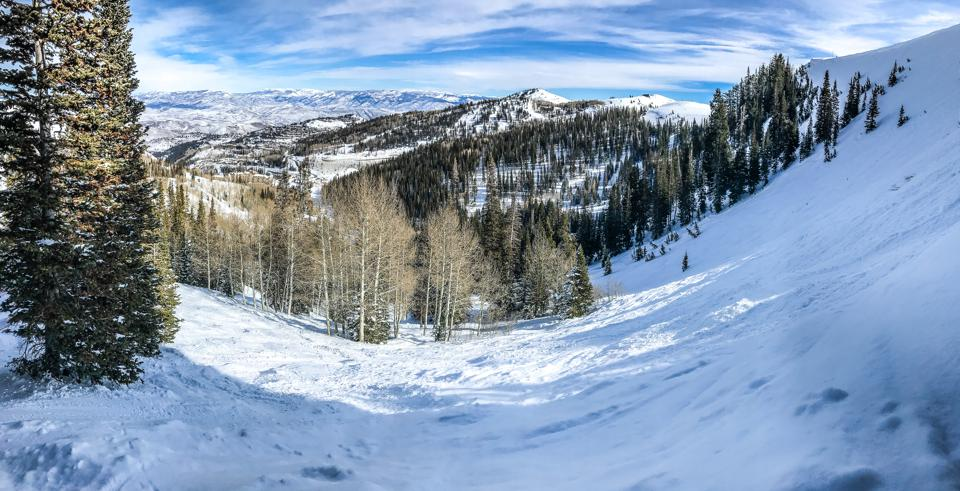 Winter mountain landscape at Deer Valley.