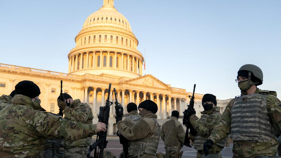 Washington, DC Prepares For Potential Unrest Ahead Of Presidential Inauguration