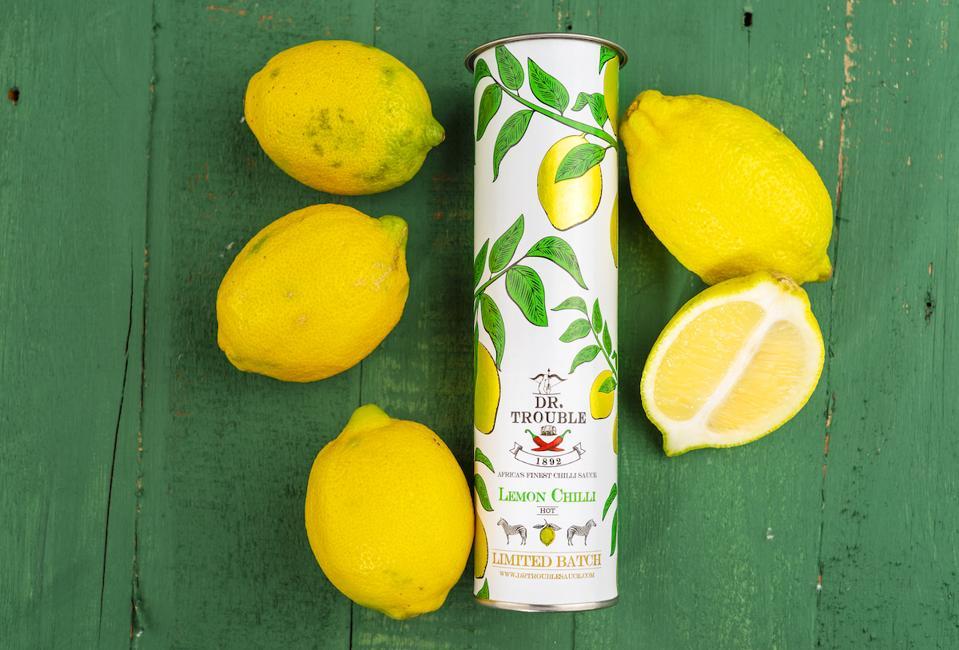 lemon chilli sauce and lemons