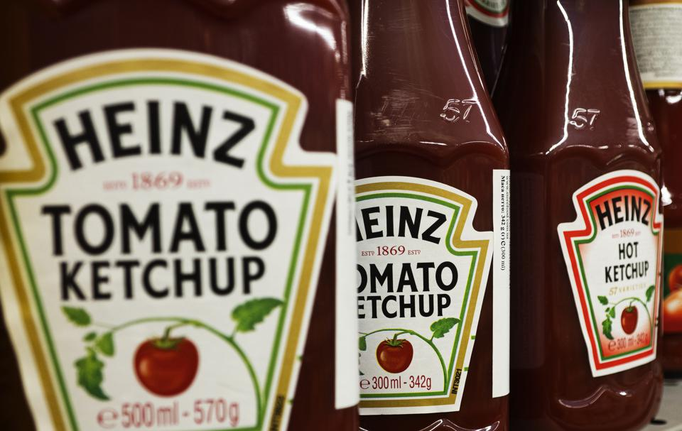 Heinz Tomato ketchup on a store shelf...