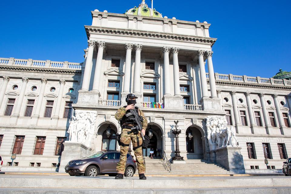 A member of the Pennsylvania Capitol Police Special Response...