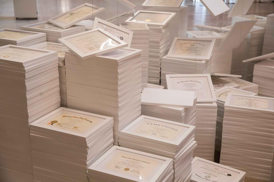 2,600 college diplomas courtesy of natural Light