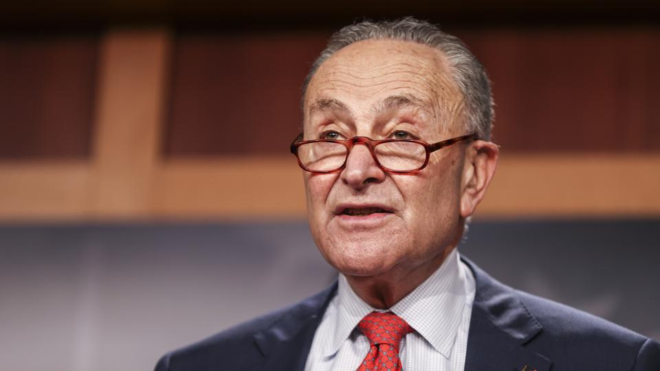Senate Minority Leader Schumer Holds Press Availability On Capitol Hill