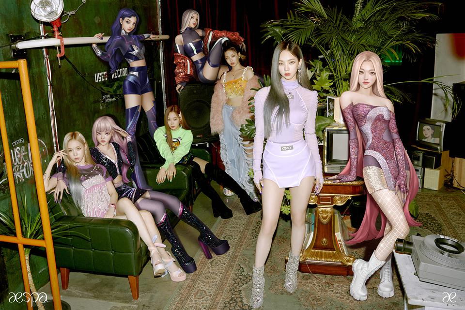 aespa avatars smngg sm girl group baru virtual black mamba entertainment kpop debut mv