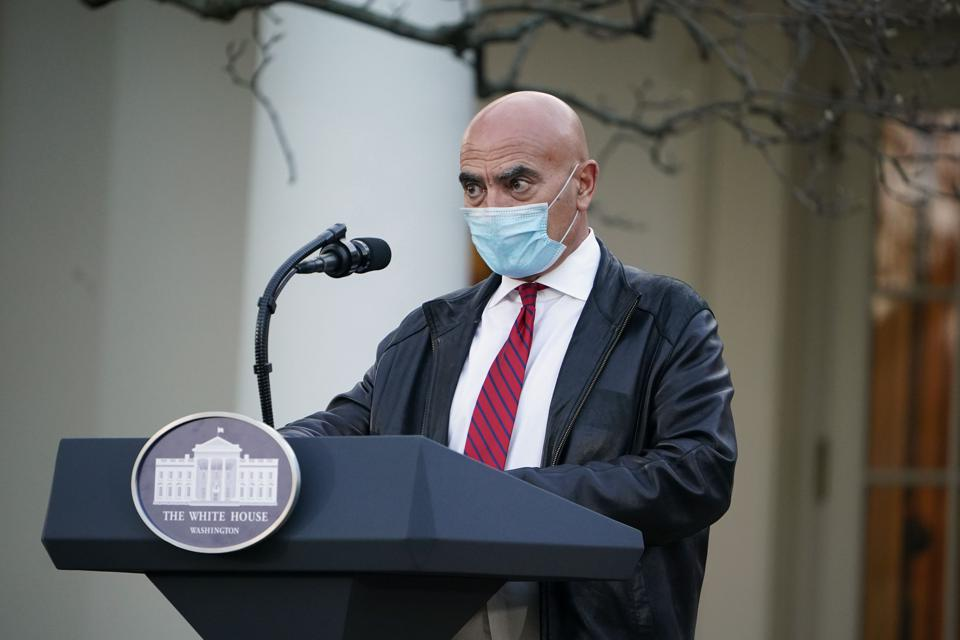 Moncef Slaoui, head of the federal Covid-19 vaccine effort Operation Warp Speed.