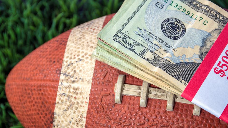 money on football