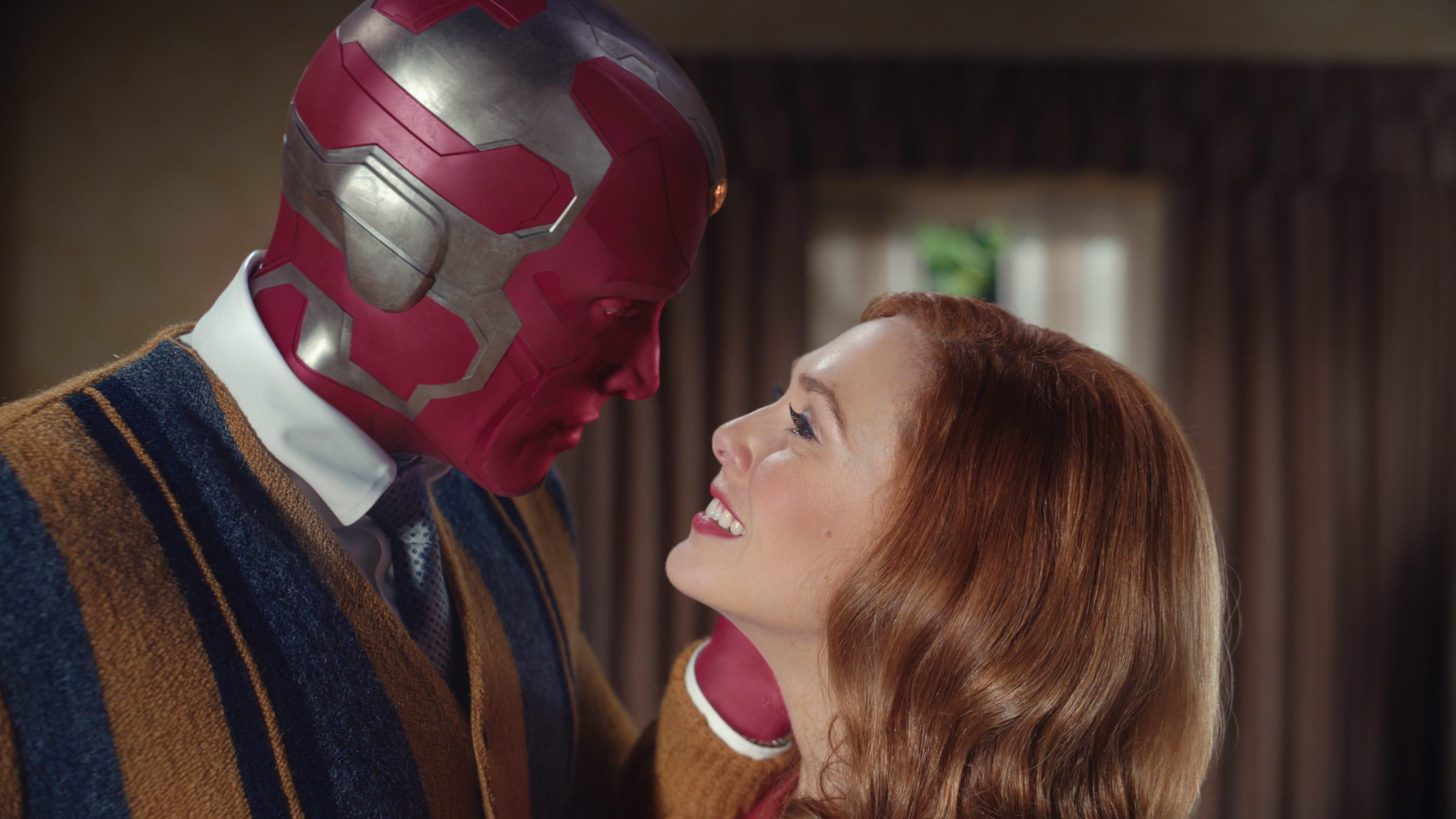Paul Bettany and Elizabeth Olsen in 'Wandavision'