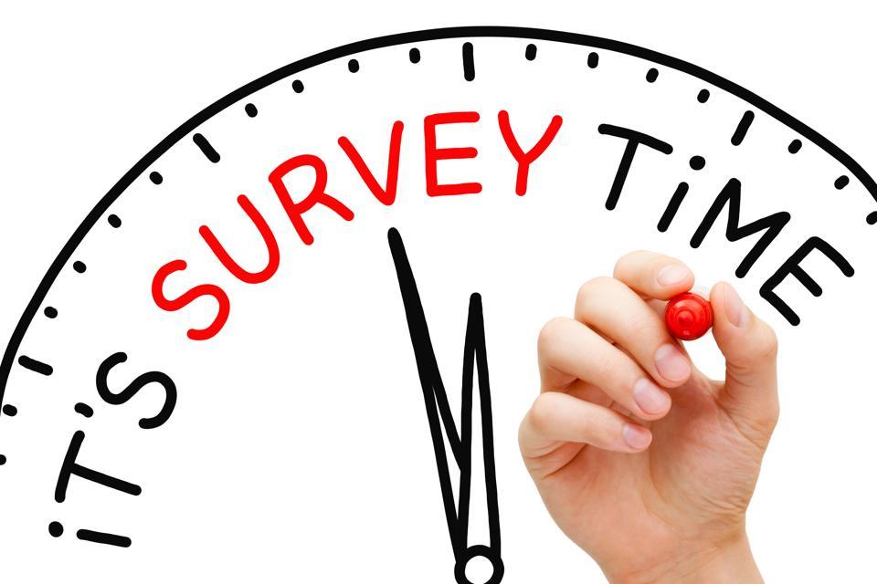 It Is Survey Time Concept