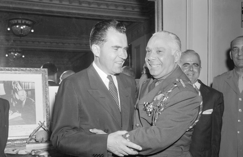 Nixon Visits Dominican Republic and embraces Rafael Trujillo