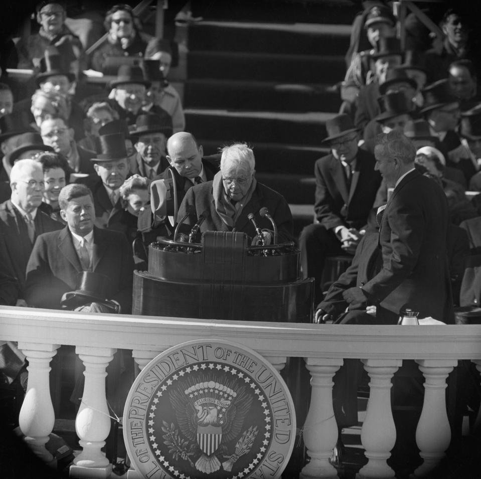 Robert Frost Reads at President Kennedy's Inauguration